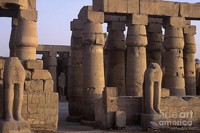 Temple Ruins At Karnak, Luxor, Egypt Poster