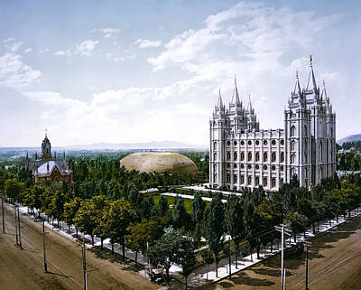 Temple Square - Salt Lake City - 1899 Poster by Daniel Hagerman