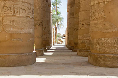Poster featuring the photograph Temple Of Karnak by Silvia Bruno