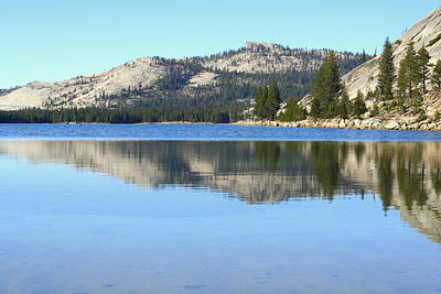 Poster featuring the photograph Tenaya Lake Reflections by Lynn Bawden