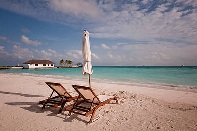Tender Evening Sun. Maldivian Beach Poster by Jenny Rainbow