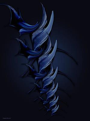 Tender Vision Of Blue Feeling Poster