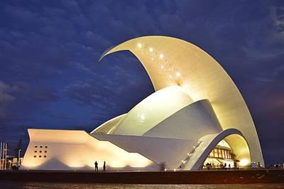 Tenerife Auditorium At Night Poster