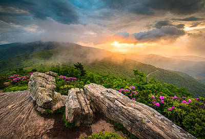Tennessee Appalachian Mountains Sunset Scenic Landscape Photography Poster