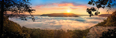 Tennessee River Gorge Morning Fog Poster