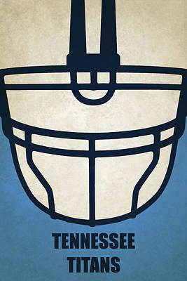 Tennessee Titans Helmet Art Poster by Joe Hamilton