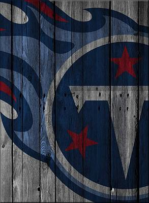Tennessee Titans Wood Fence Poster by Joe Hamilton