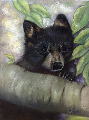 Tennessee Wildlife Black Bear Poster by Annamarie Sidella-Felts
