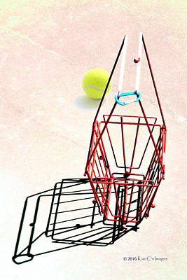 Tennis Court Basket And Ball Poster by Kae Cheatham