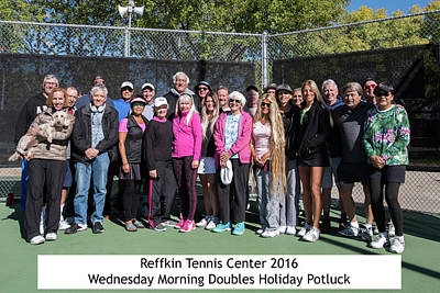 Poster featuring the photograph Tennis Potluck Group Shot by Dan McManus