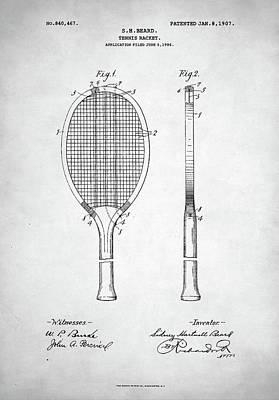 Tennis Racket Patent 1907 Poster