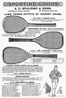 Tennis Rackets, 1887 Poster