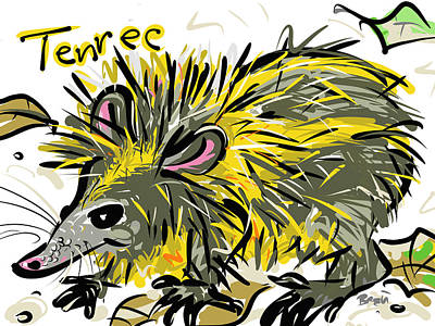 Tenrec Poster by Brett LaGue