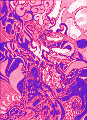 Tentacular Pink Poster