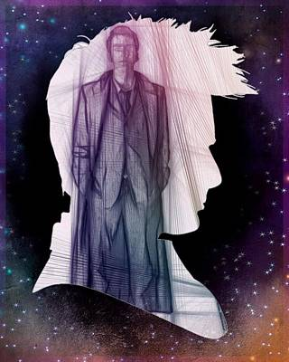 Doctor Who Inspired Tenth Doctor Silhouette  Poster
