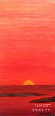 Poster featuring the painting Tequila Sunrise by Lori Jacobus-Crawford