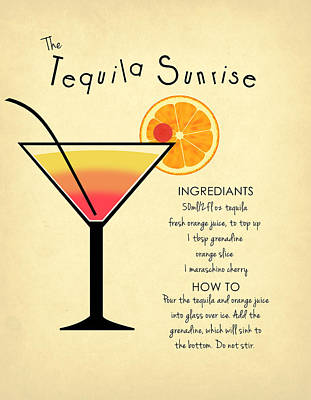 Tequila Sunrise Poster by Mark Rogan