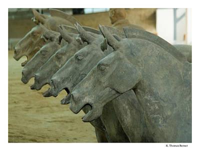 Terra Cotta Horses Poster by R Thomas Berner