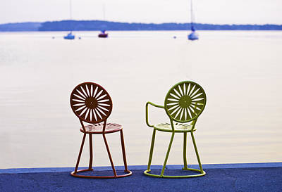 Terrace Chairs Poster