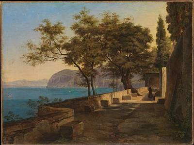 Terrace Of The Capuchin Garden Poster by Heinrich Reinhold