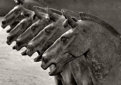Terracotta Horses Poster by Joe Bonita