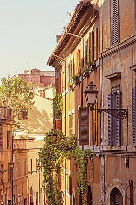 Poster featuring the photograph Terracotta - Rome Italy Travel Photography by Melanie Alexandra Price