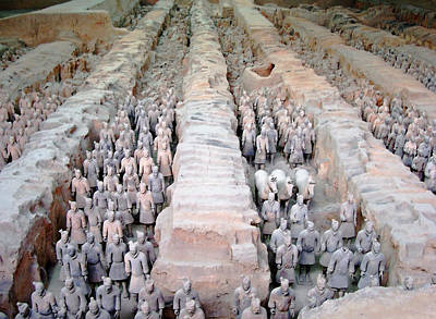 Terracotta Warriors And Horses Poster by Debbie Oppermann