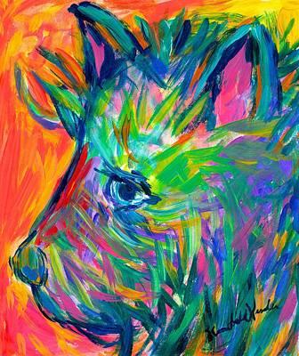 Terrier Tug Poster by Kendall Kessler
