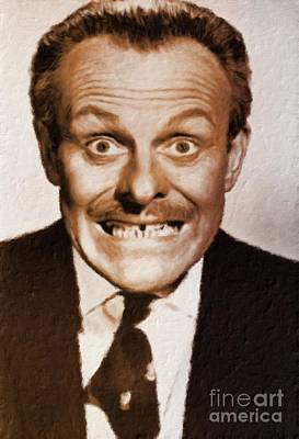 Terry Thomas, British Vintage Actor Poster by Mary Bassett