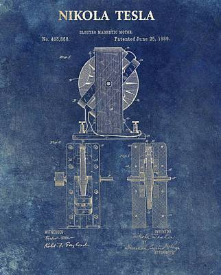 Tesla Electro Magnetic Motor Poster by Dan Sproul