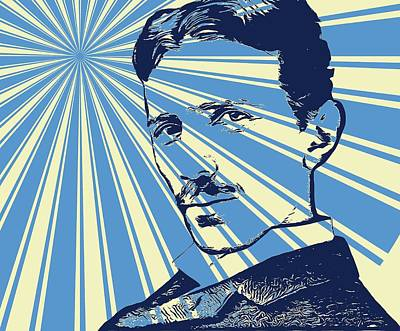 Tesla Pop Art Poster Poster by Dan Sproul