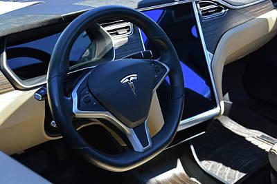 Tesla S85d Cockpit Poster by Mike Martin