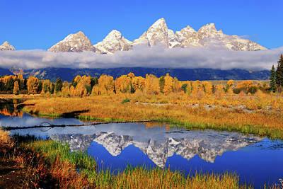 Teton Peaks Reflections Poster