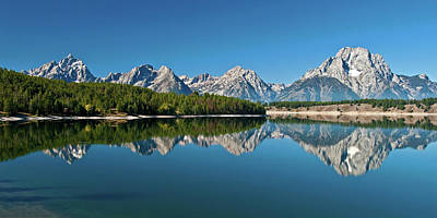 Poster featuring the photograph Teton Reflections II by Gary Lengyel