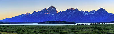 Poster featuring the photograph Teton Sunset by David Chandler