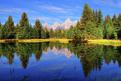 Teton Tranquility Poster by Greg Norrell