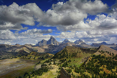 Tetons In Early September Poster