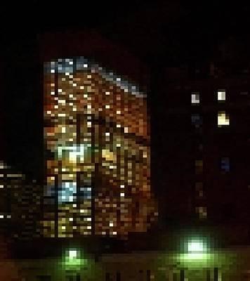 Tetris Comes To Midtown Poster by Cheryl Kurman