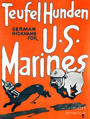 Teufel Hunden Us Marines Poster Poster