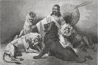 Tewodros Holding Audience, Surrounded Poster by Ken Welsh