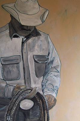 Poster featuring the painting Tex by Krista Ouellette