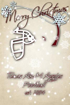 Texas Am Aggies Christmas Card 2 Poster by Joe Hamilton