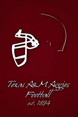 Texas Am Aggies Helmet Poster by Joe Hamilton