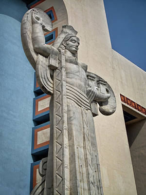 Poster featuring the photograph Texas Art Deco Sculpture by David and Carol Kelly