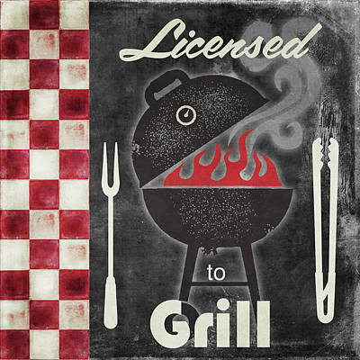 Texas Barbecue I Poster by Mindy Sommers