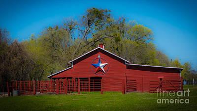 Texas Barn Poster by John Roberts
