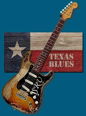 Texas Blues Shirt Poster