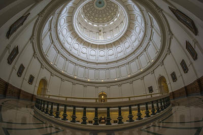 Texas Capitol Dome Wide Angle Poster