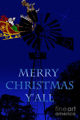 Texas Christmas Card Poster
