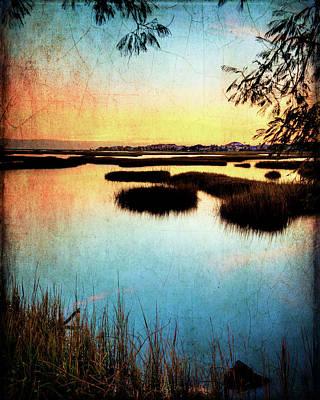 Texas City Wetlands Sunset Poster